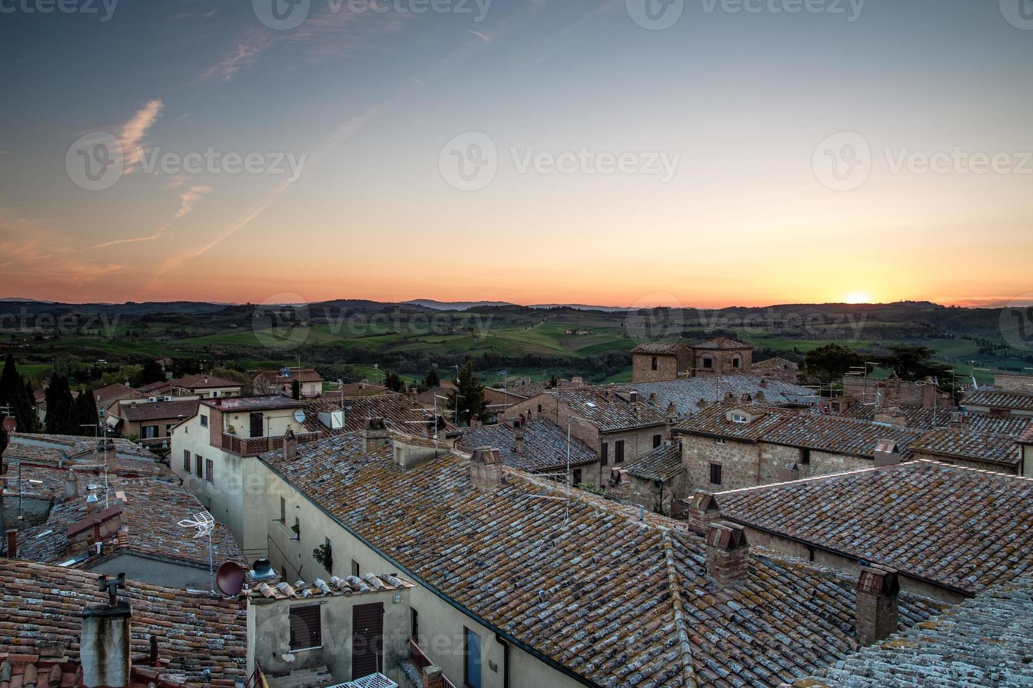 dorp Pienza in Toscane foto