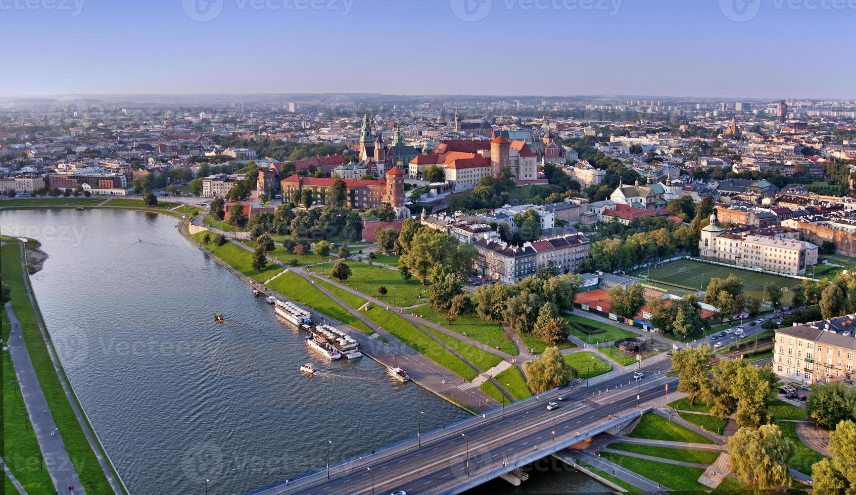 skyline van Krakau foto