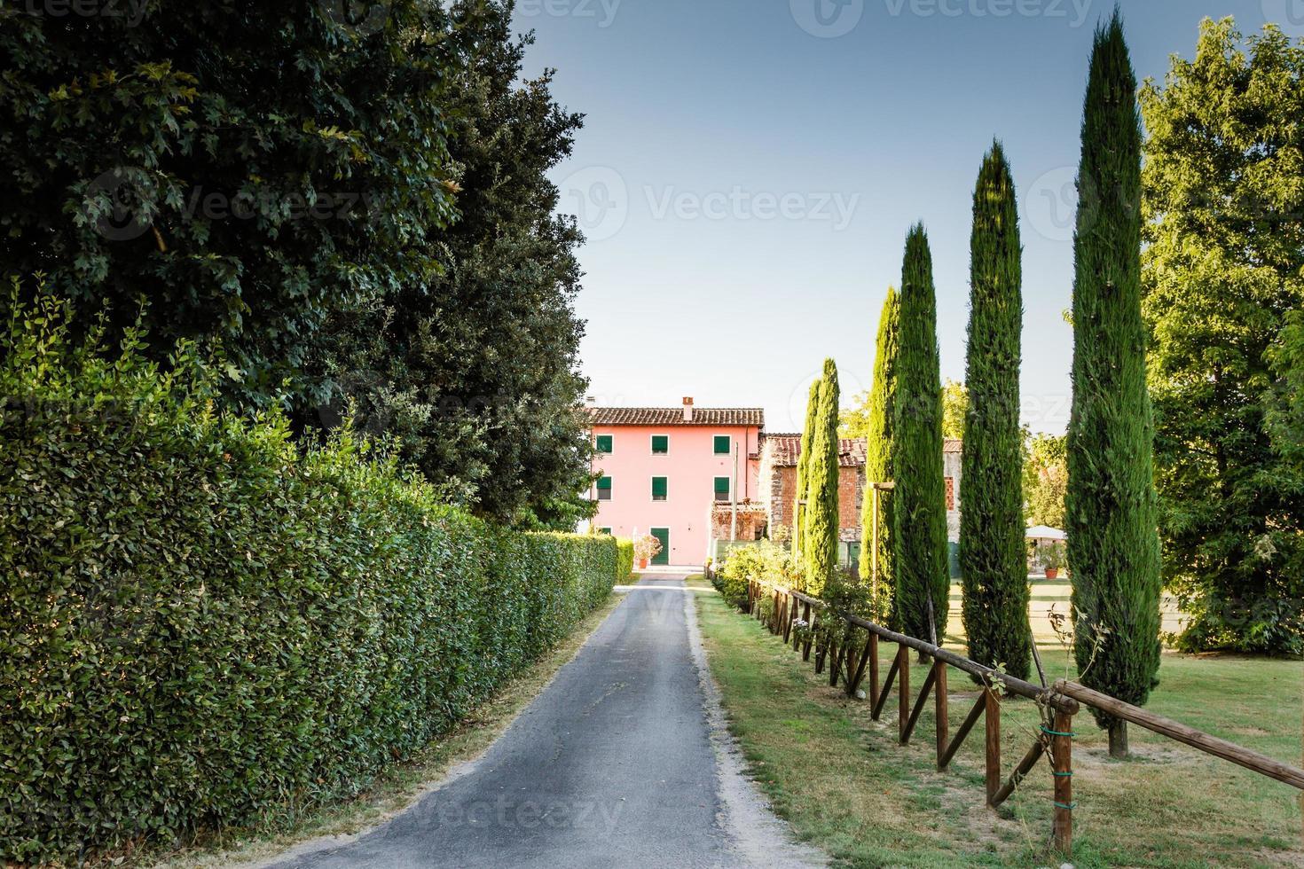 Toscaans landhuis foto