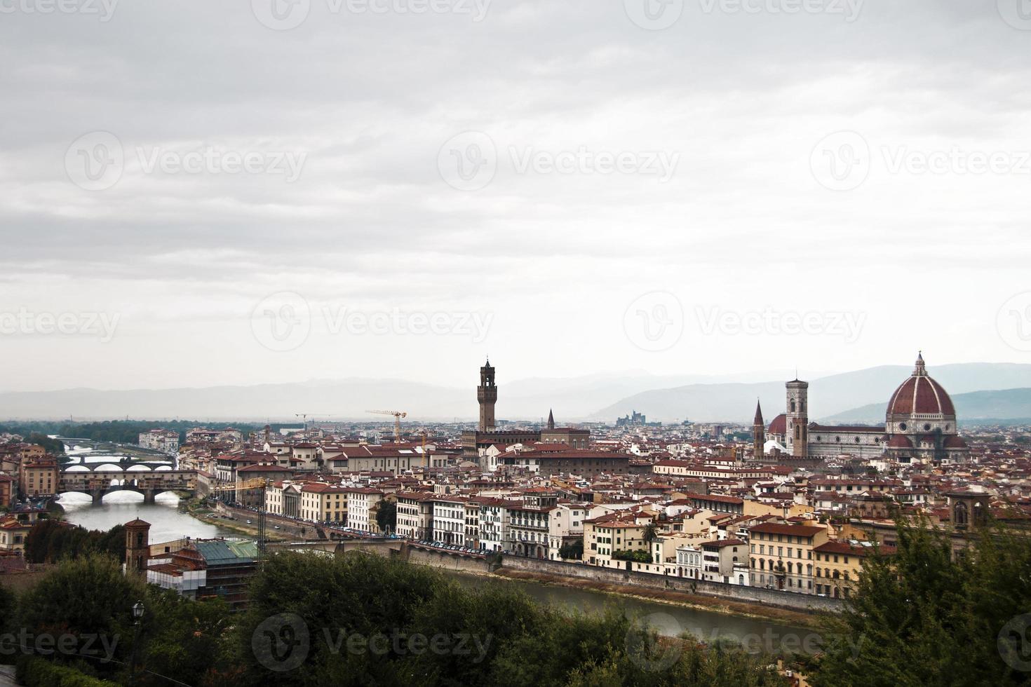 panoramisch uitzicht over florence foto