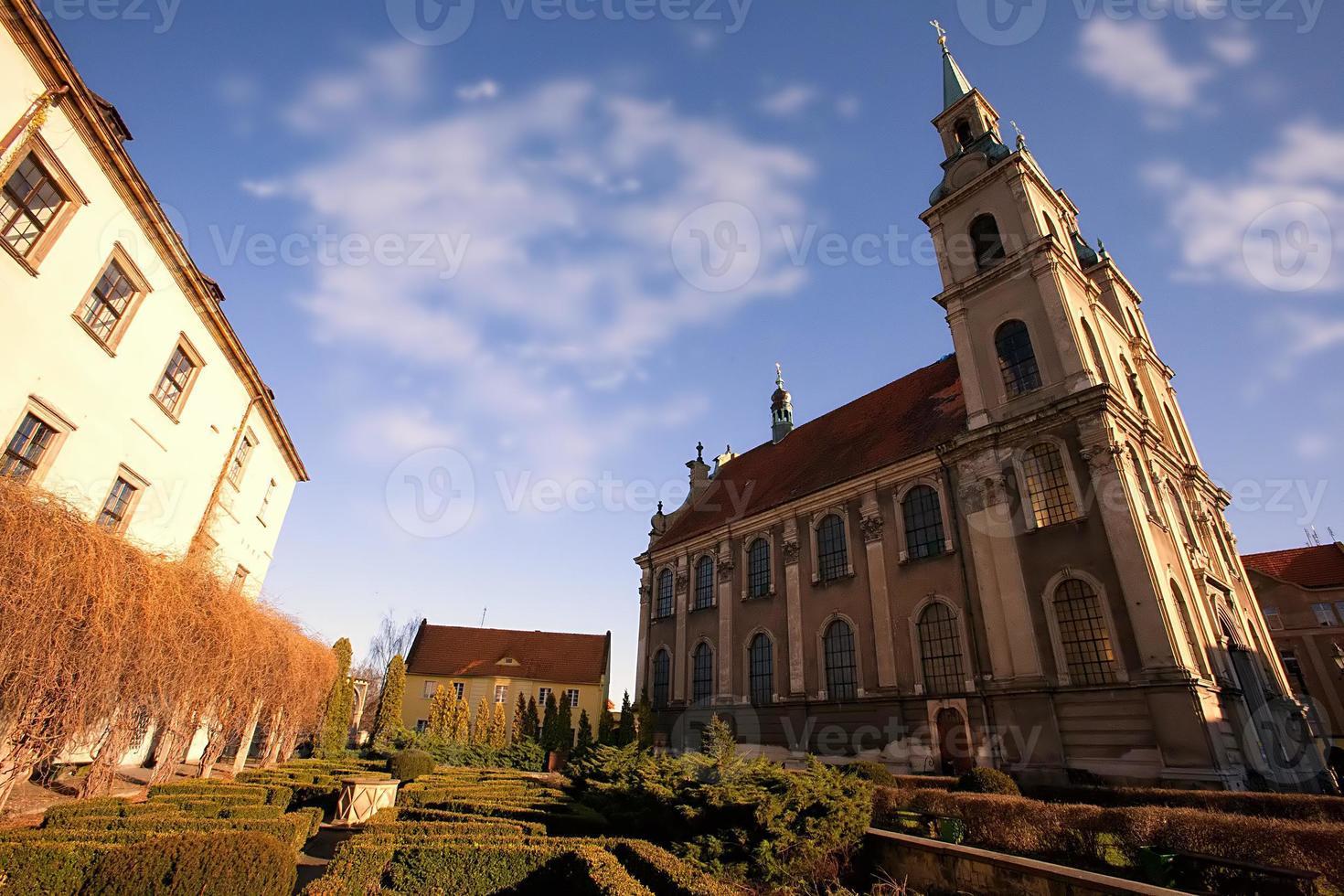 prachtige monumenten in de buurt van wroclaw, polen foto