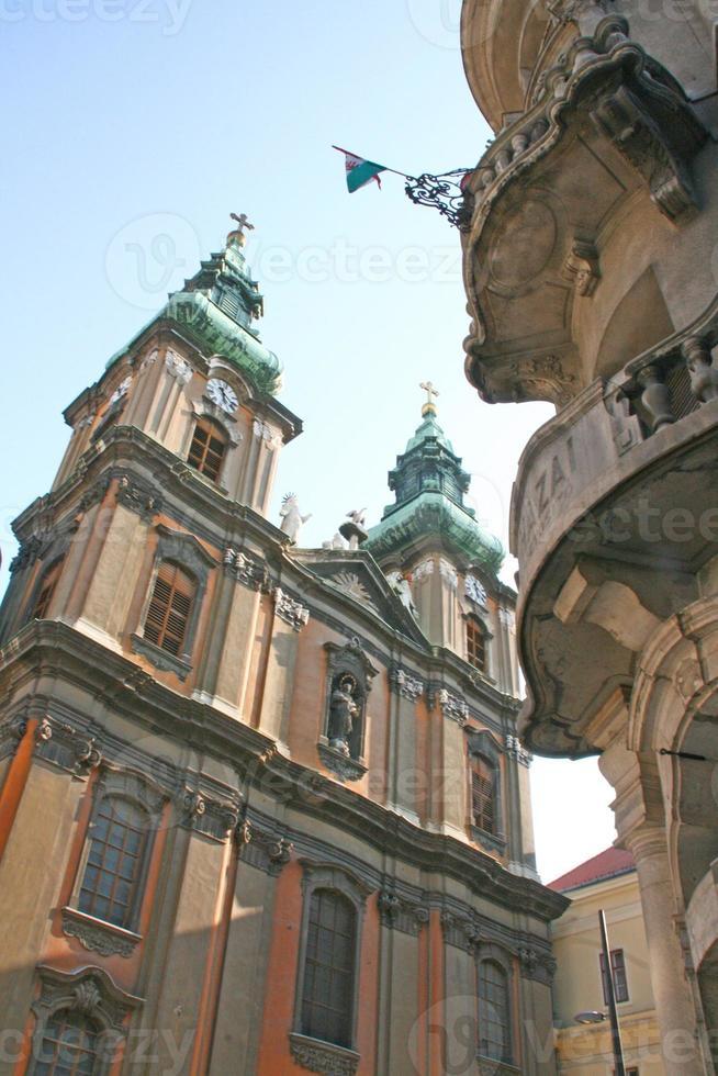 kerk van de universiteit, boedapest, hongarije foto