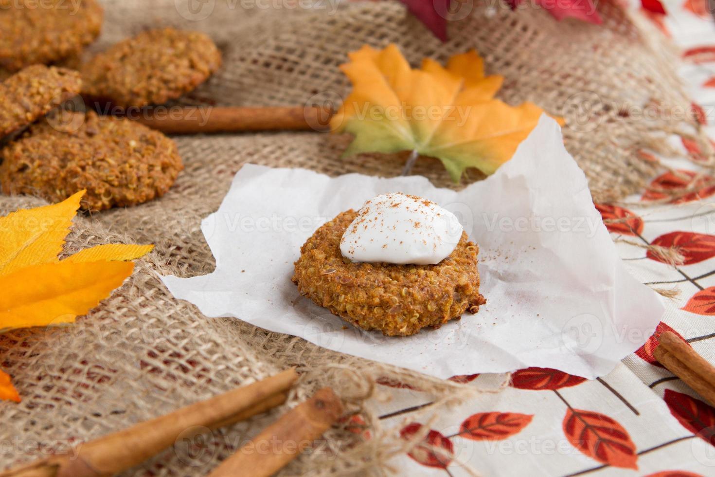 quinoa pompoen koekjes foto