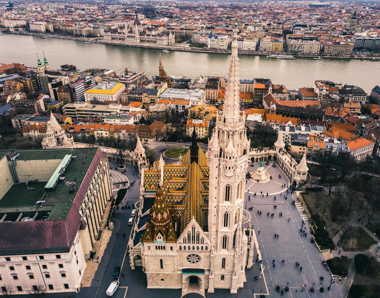 luchtfoto van Boedapest, Hongarije foto