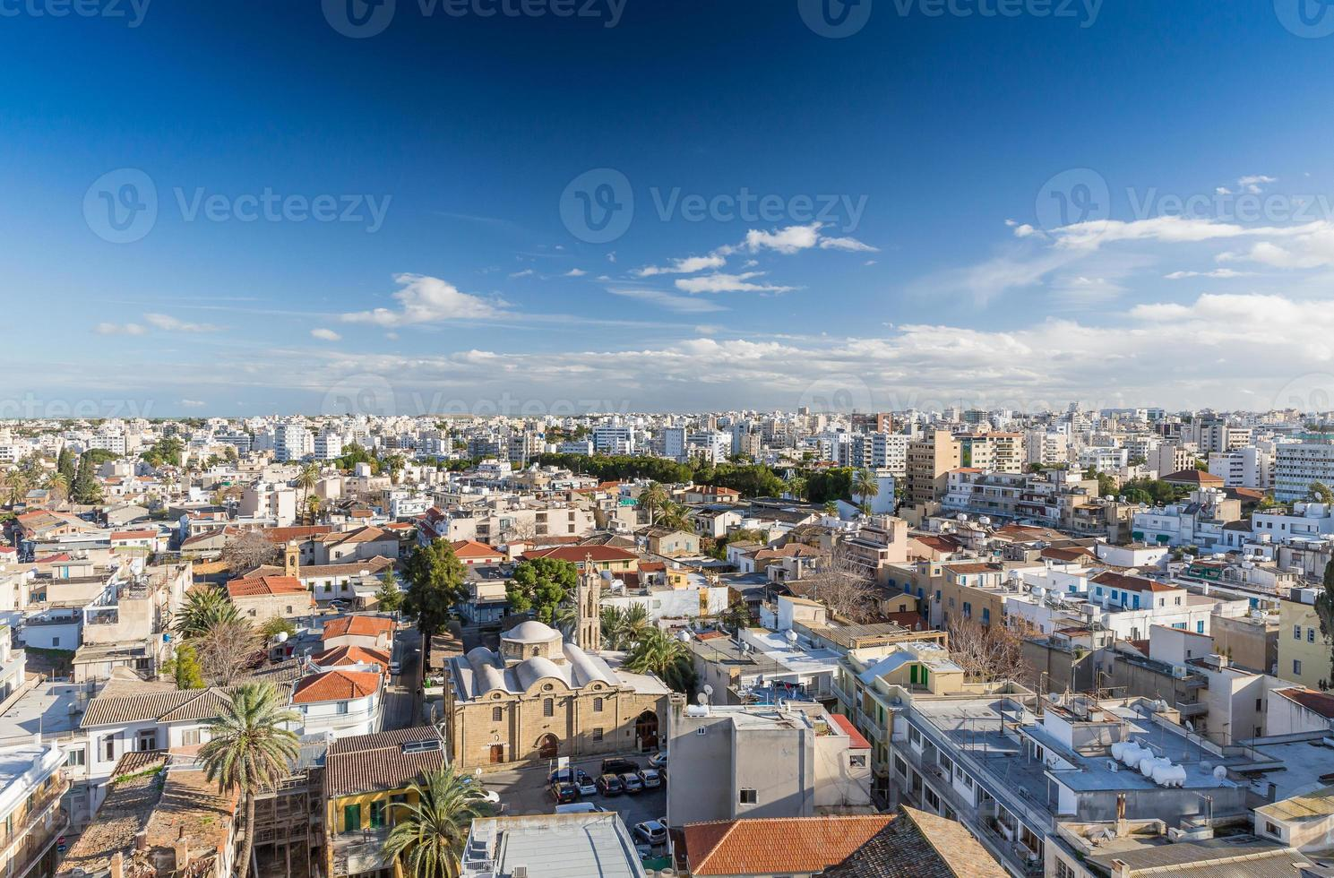 uitzicht op de stad Nicosia foto