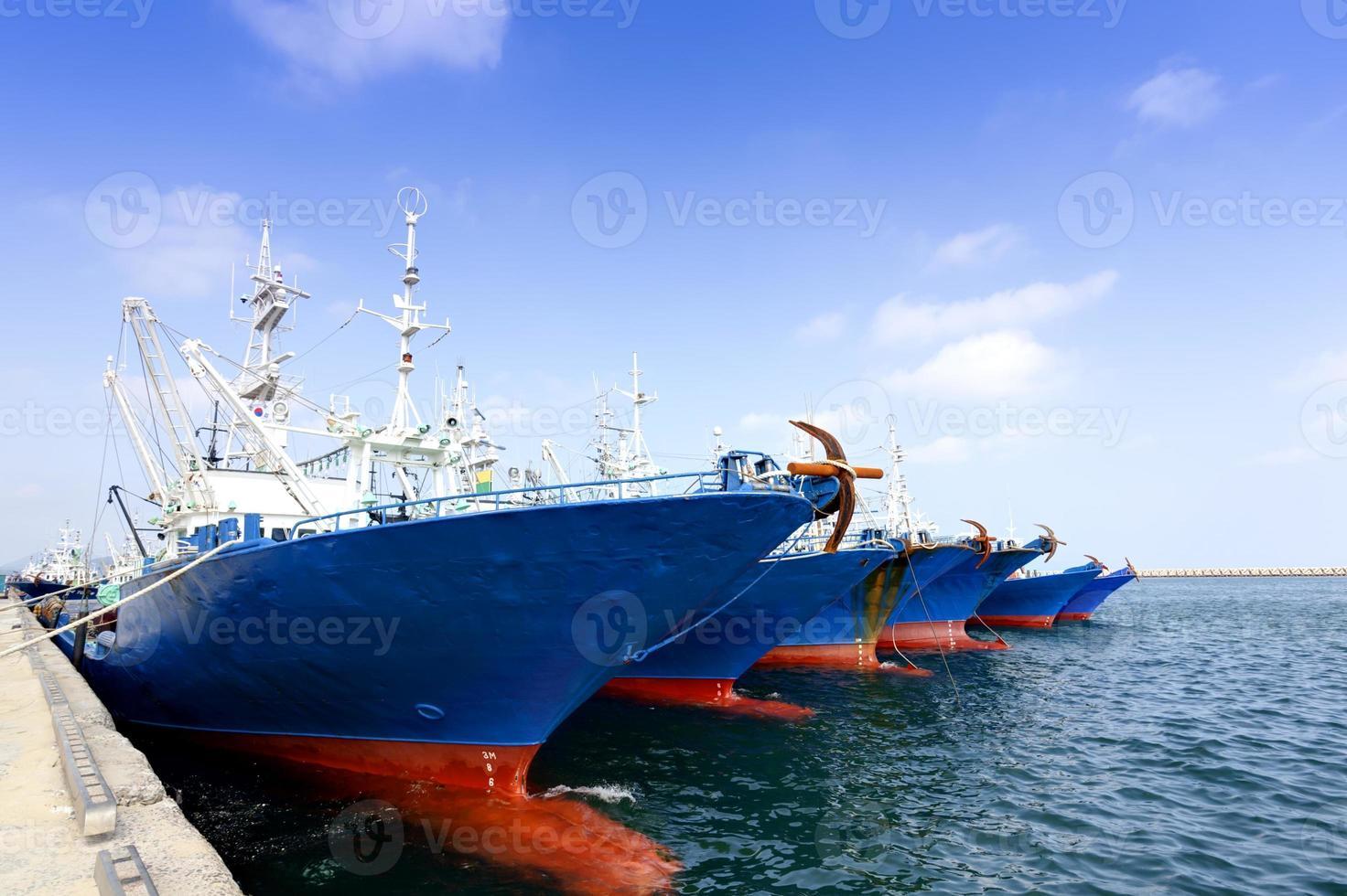 aangemeerde schepen foto