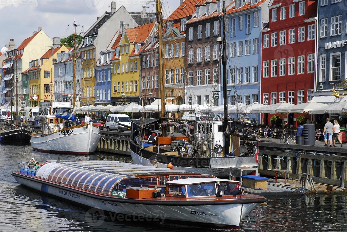 boten in Nyhavn, Kopenhagen foto