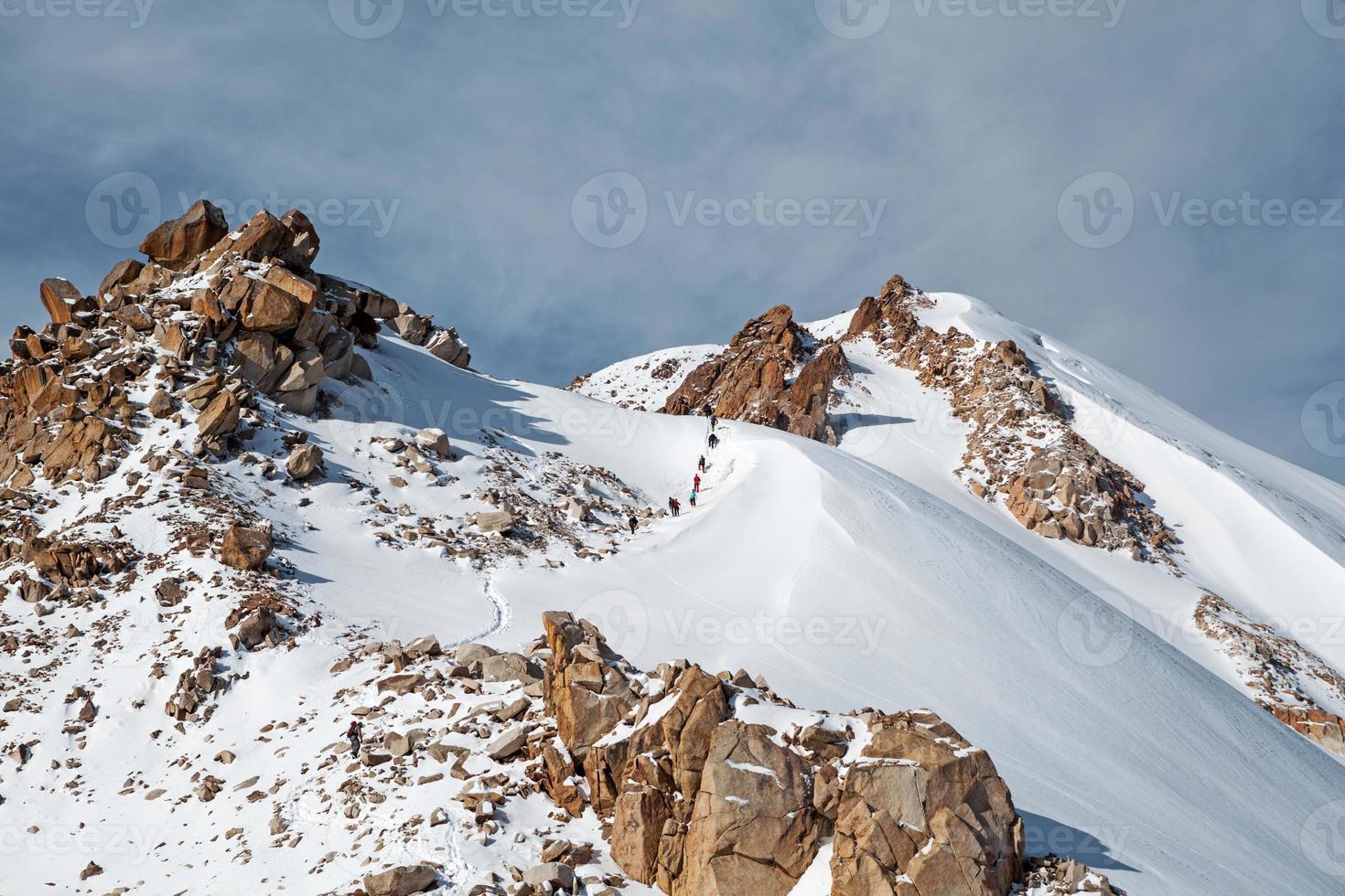 pad naar de top. foto
