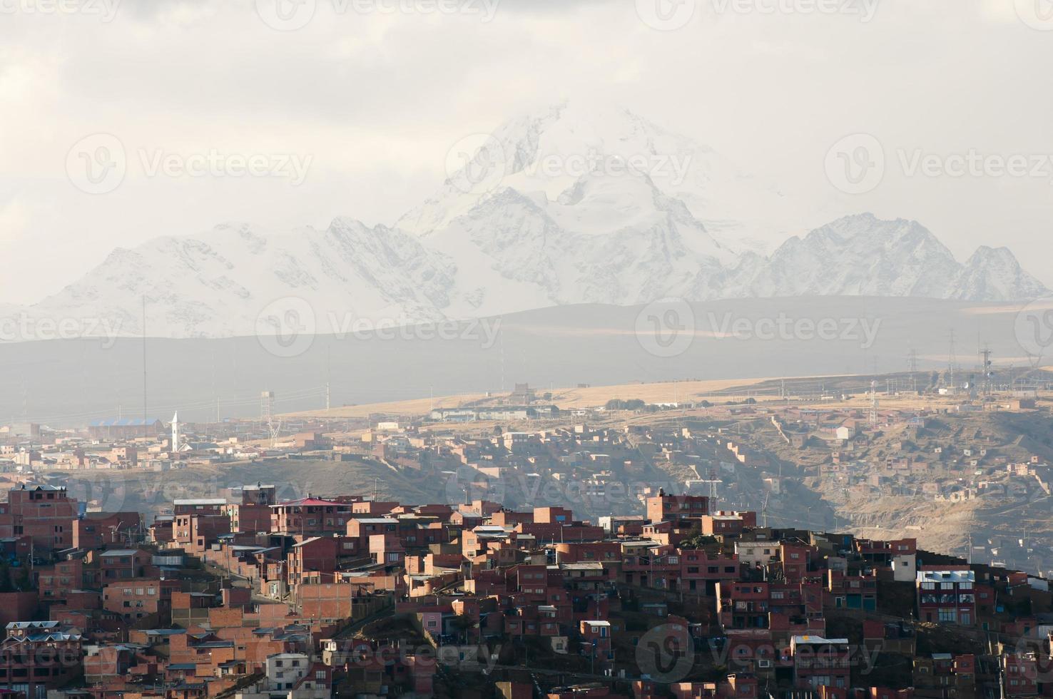 la paz stad - bolivia foto