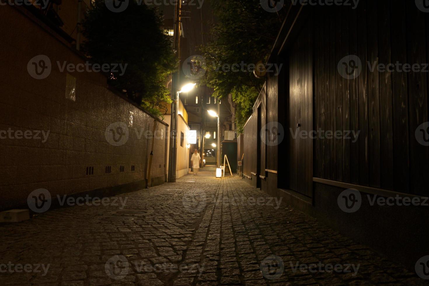 kagurazaka nachtzicht foto