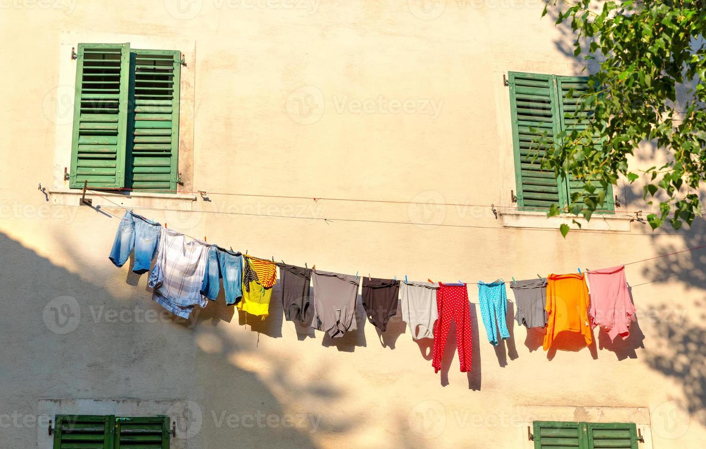 kleurrijke doek foto