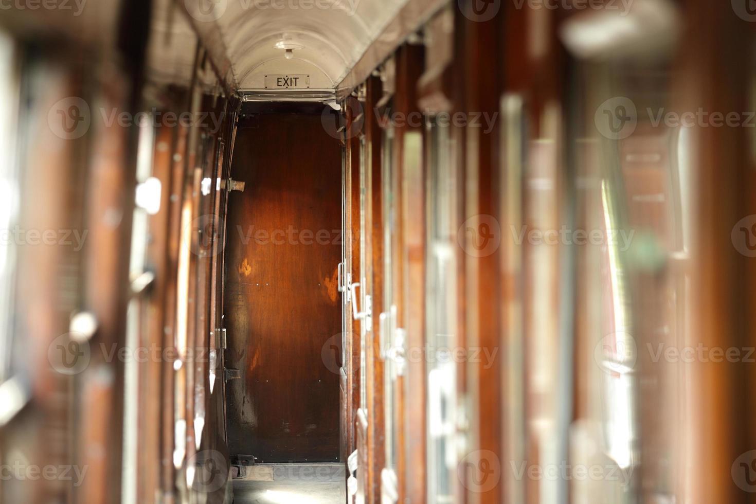 vintage treinwagon foto