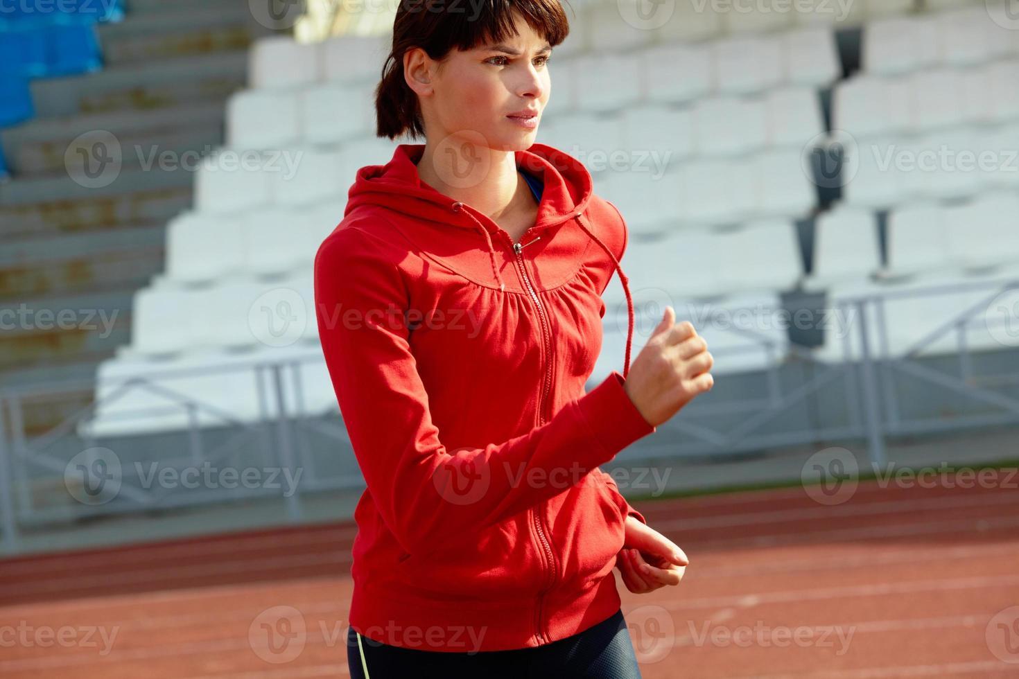 jonge sportvrouw foto