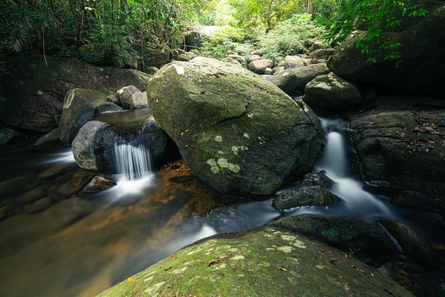 khlong pla kang watervallen in thailand. foto