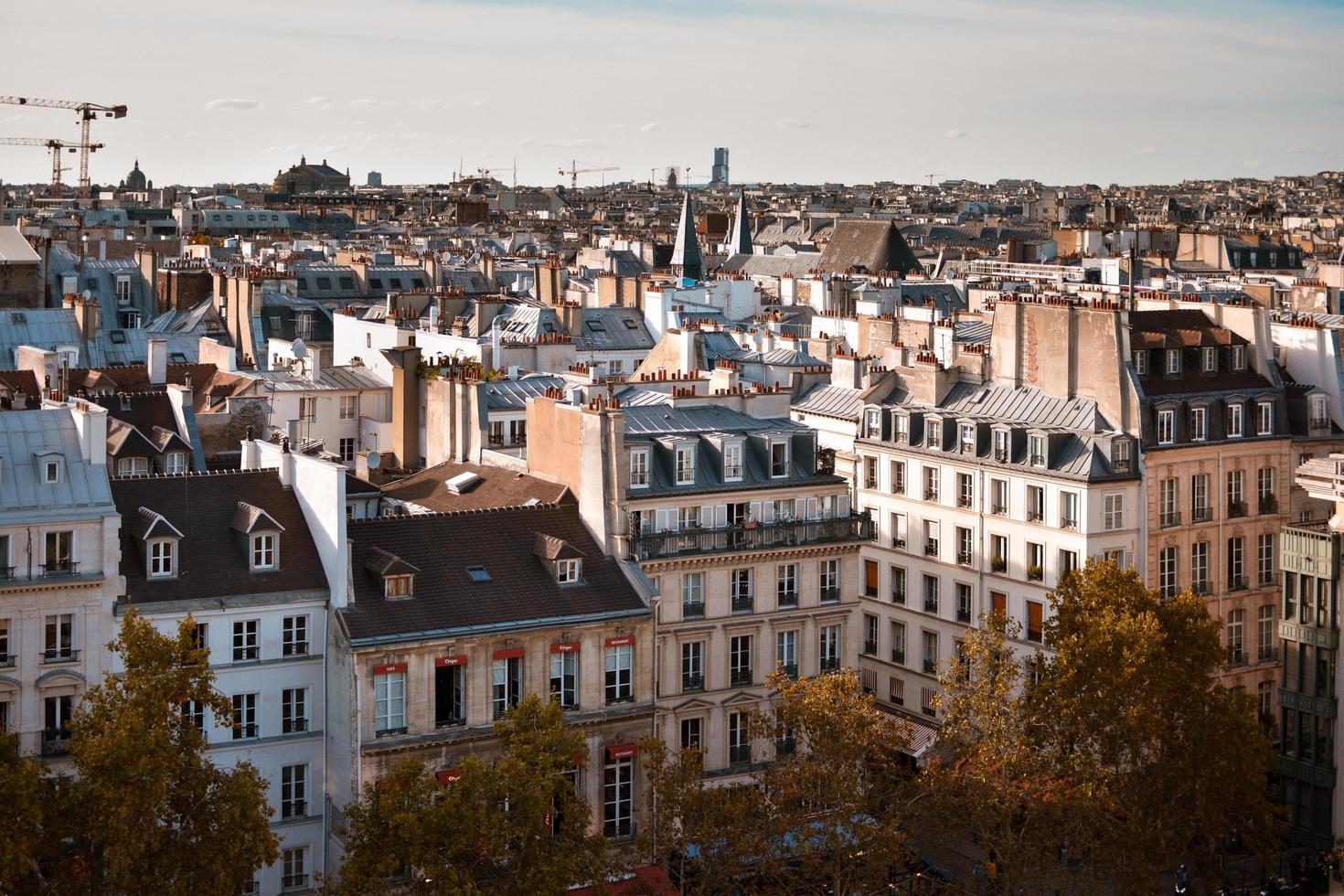 gebouwen van parijs foto