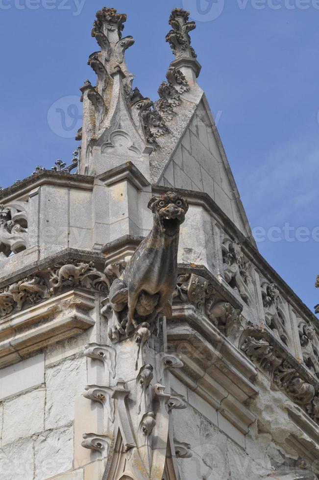 saint hubert kapel bij koninklijk kasteel in amboise foto