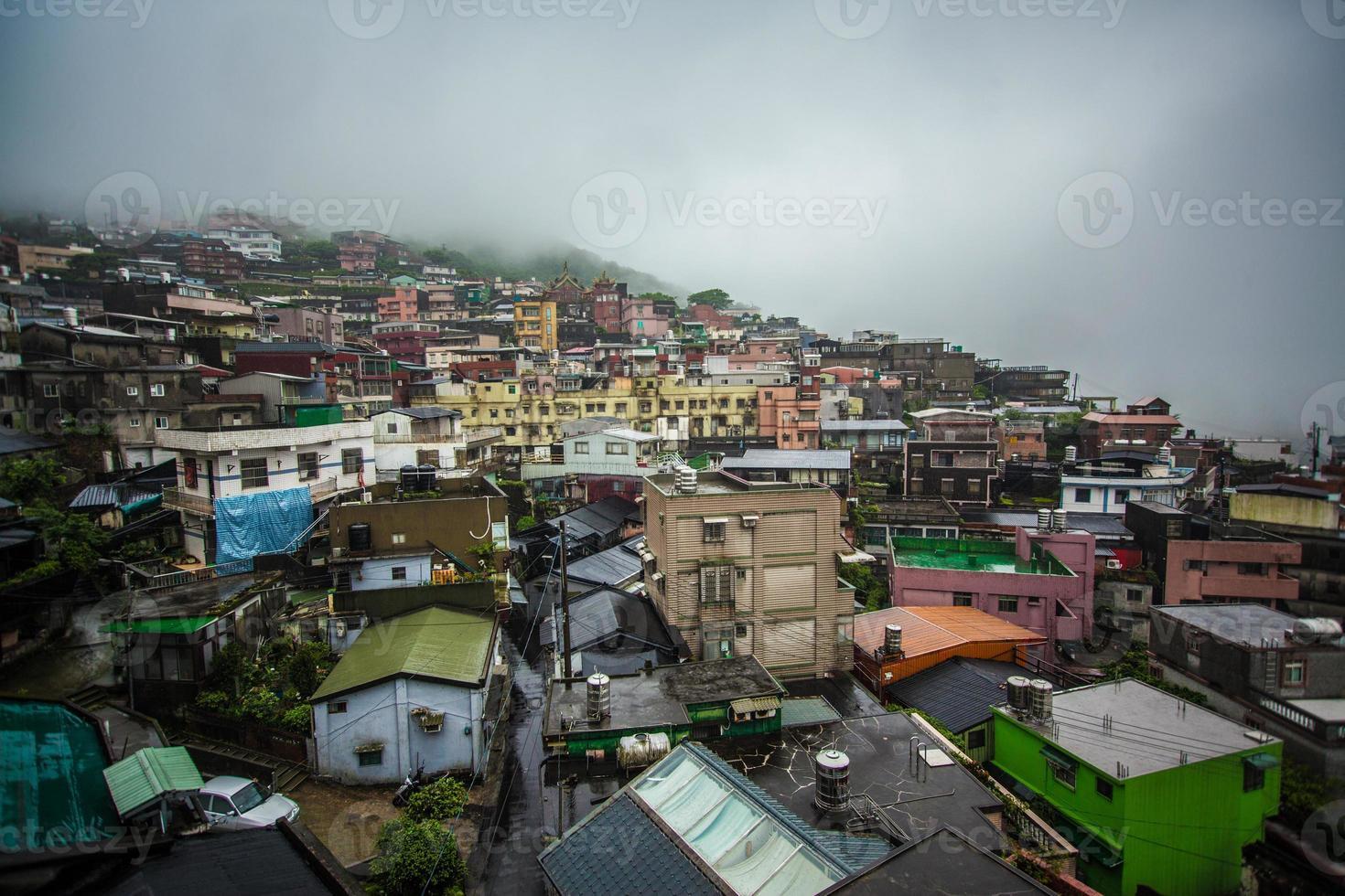bergdorp in jiufen taiwan foto