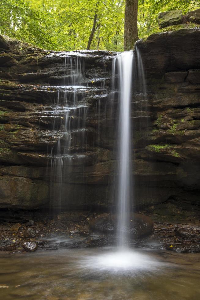 watervallen overdag foto