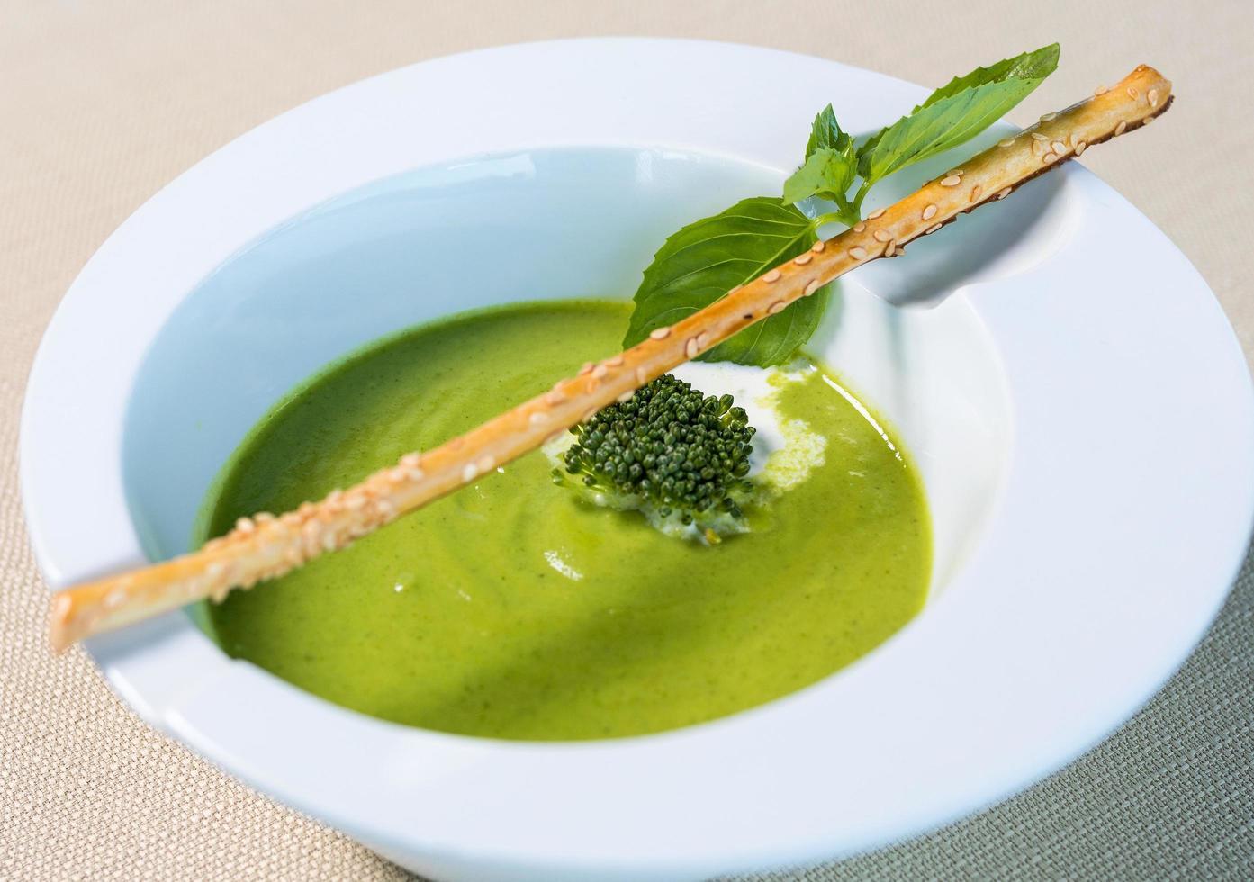 biologische groene soep foto