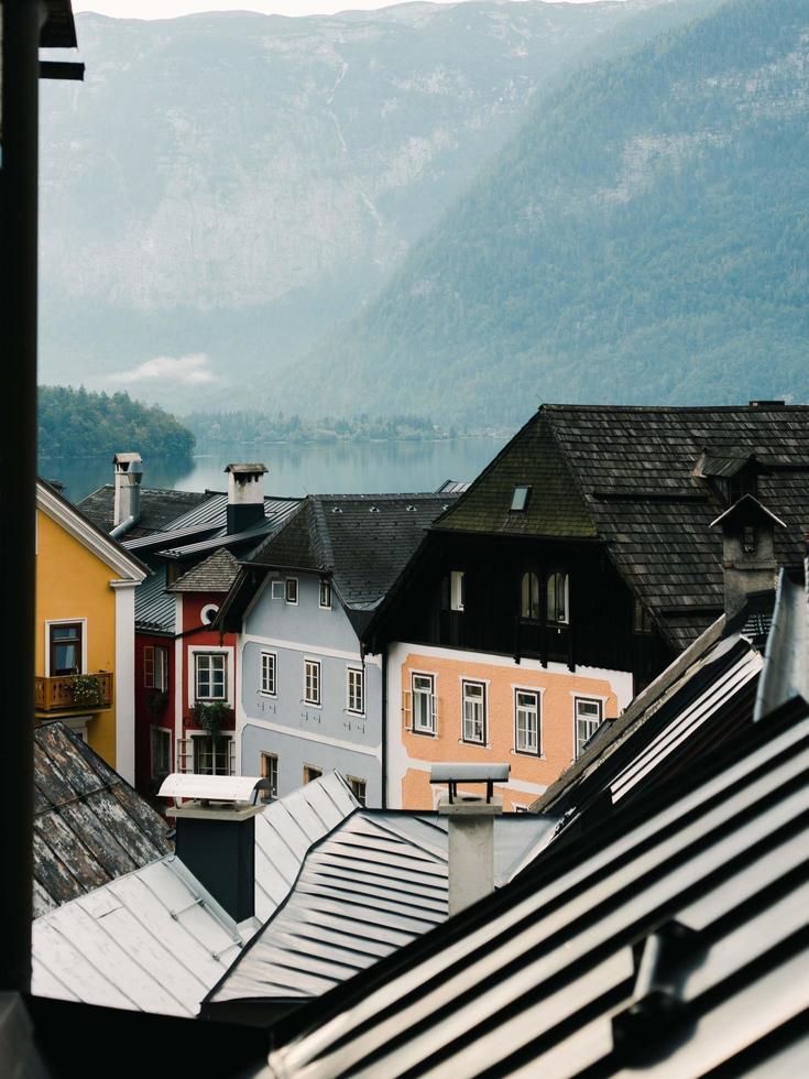 Hallstatt, Oostenrijk, 2020 - Oostenrijkse chocoladedooshuizen foto