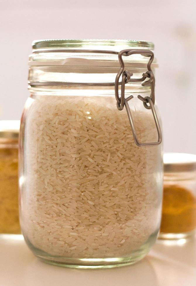 close-up van een pot rijst foto