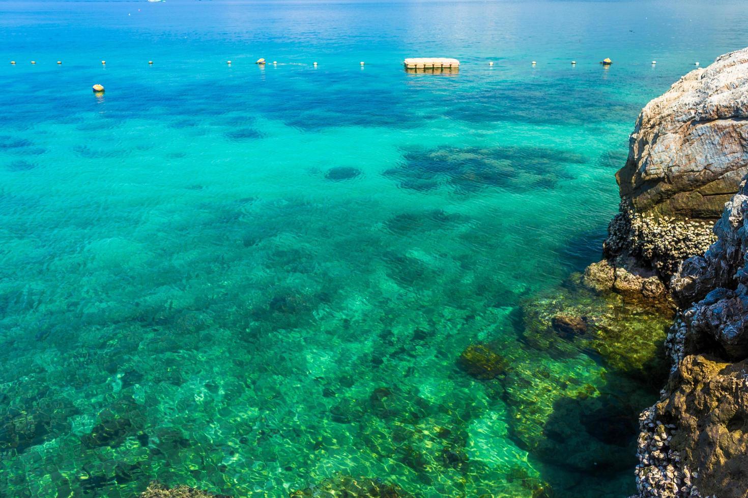 tropische oceaan gedurende de dag foto