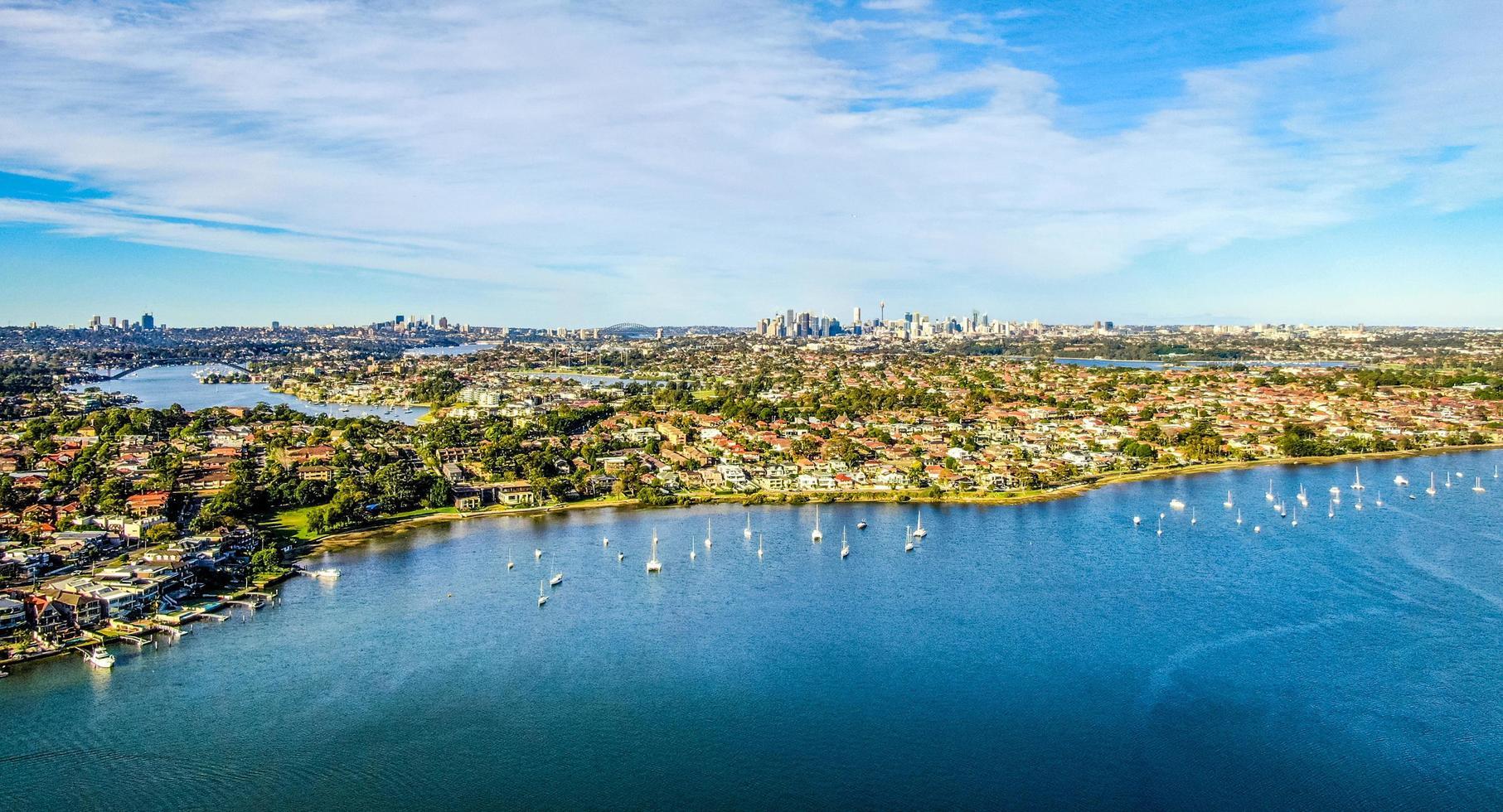 Sydney, Australië, 2020 - een luchtfoto van Sydney foto
