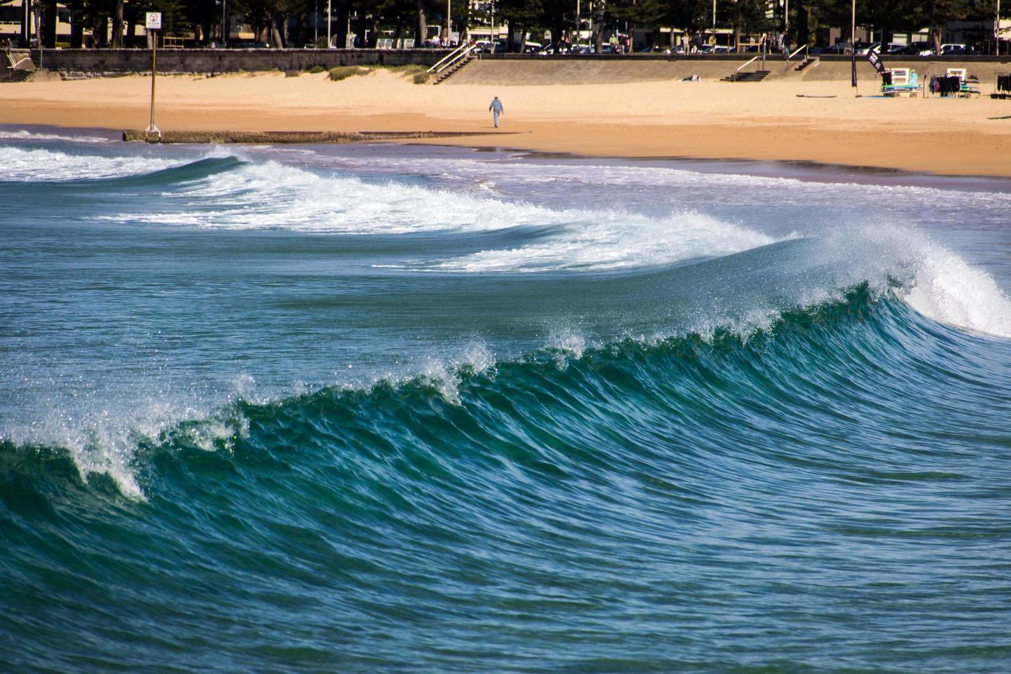 manly beach, Australië, 2020 - golven in de buurt van het strand gedurende de dag foto