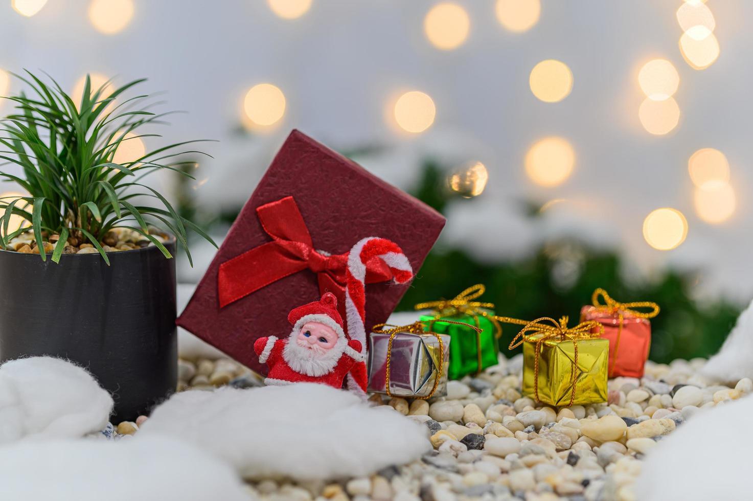 Kerst achtergrond voor het adventseizoen foto