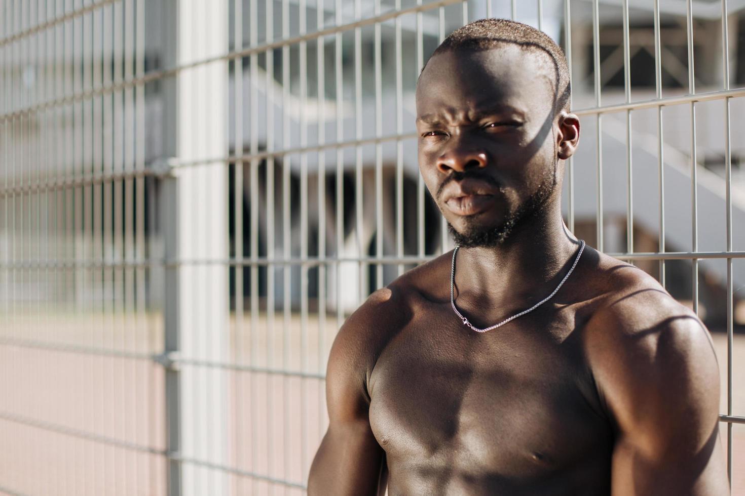 portret van een atleet foto