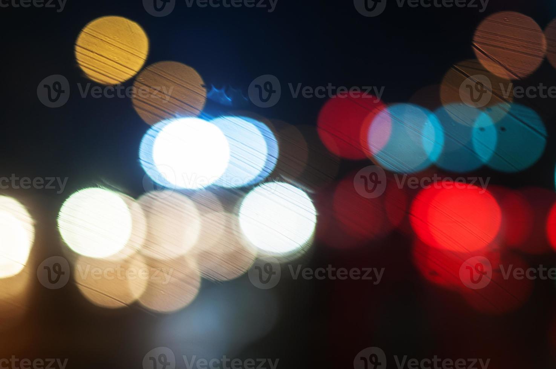 achtergrond van de nachtstad foto