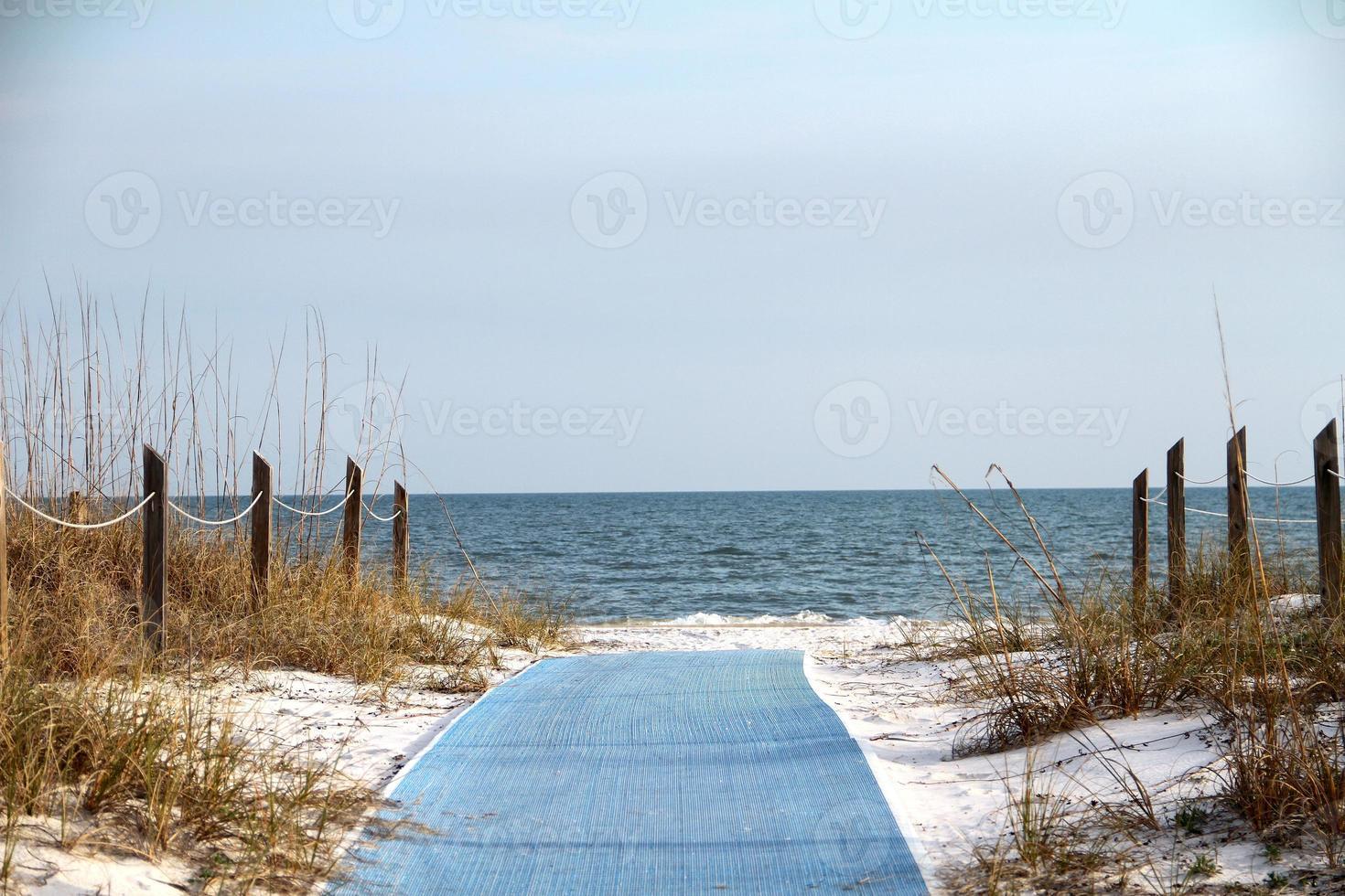 blauw pad naar oneindigheid foto