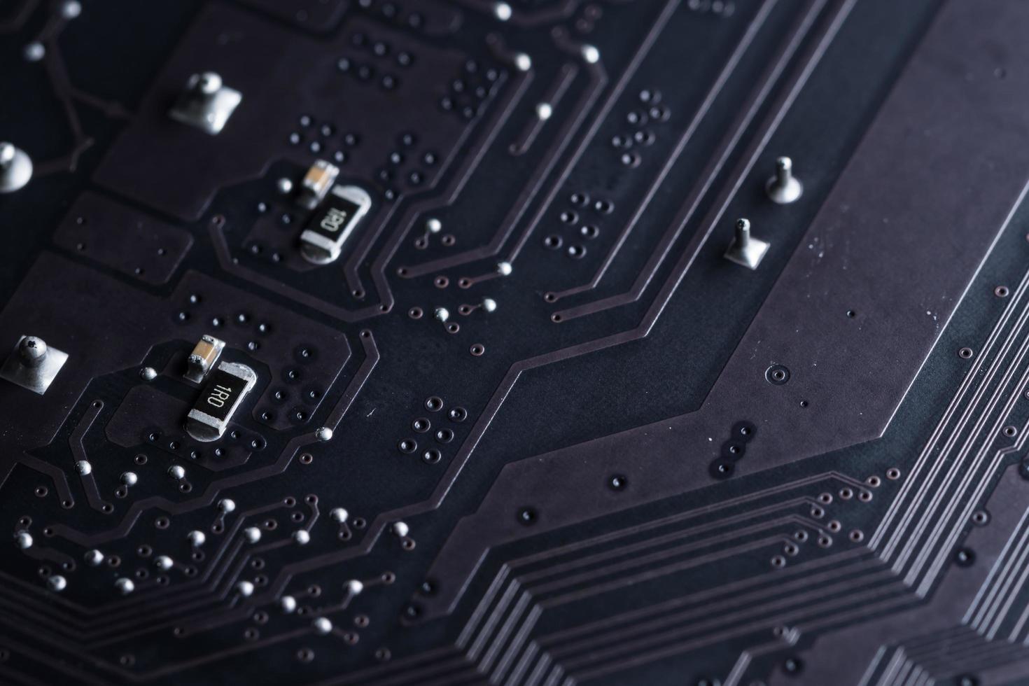 elektronische printplaat, close-up foto