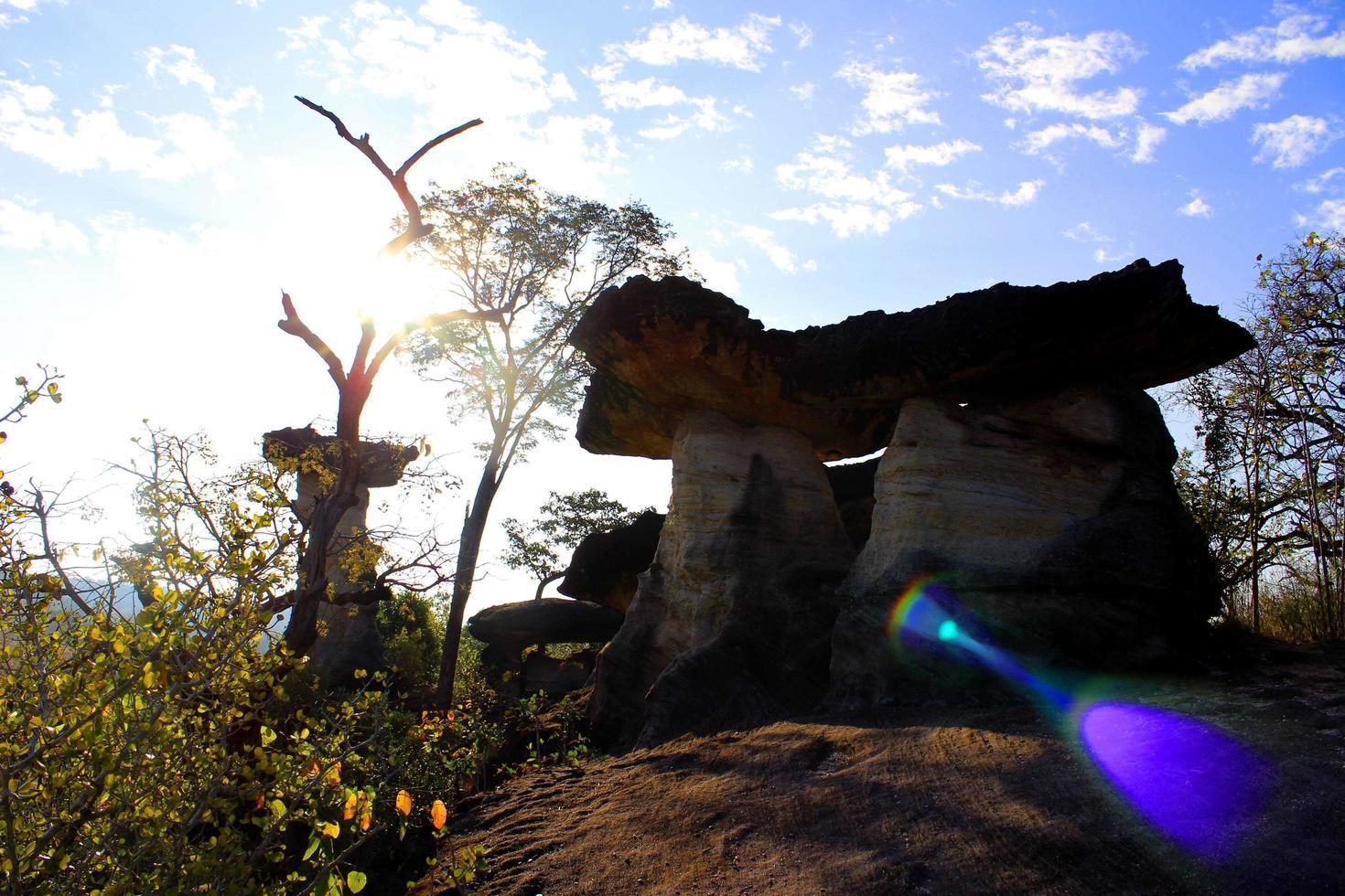 stenen stapel in Thailand foto