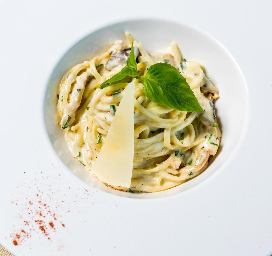 smakelijke pasta met kaas foto