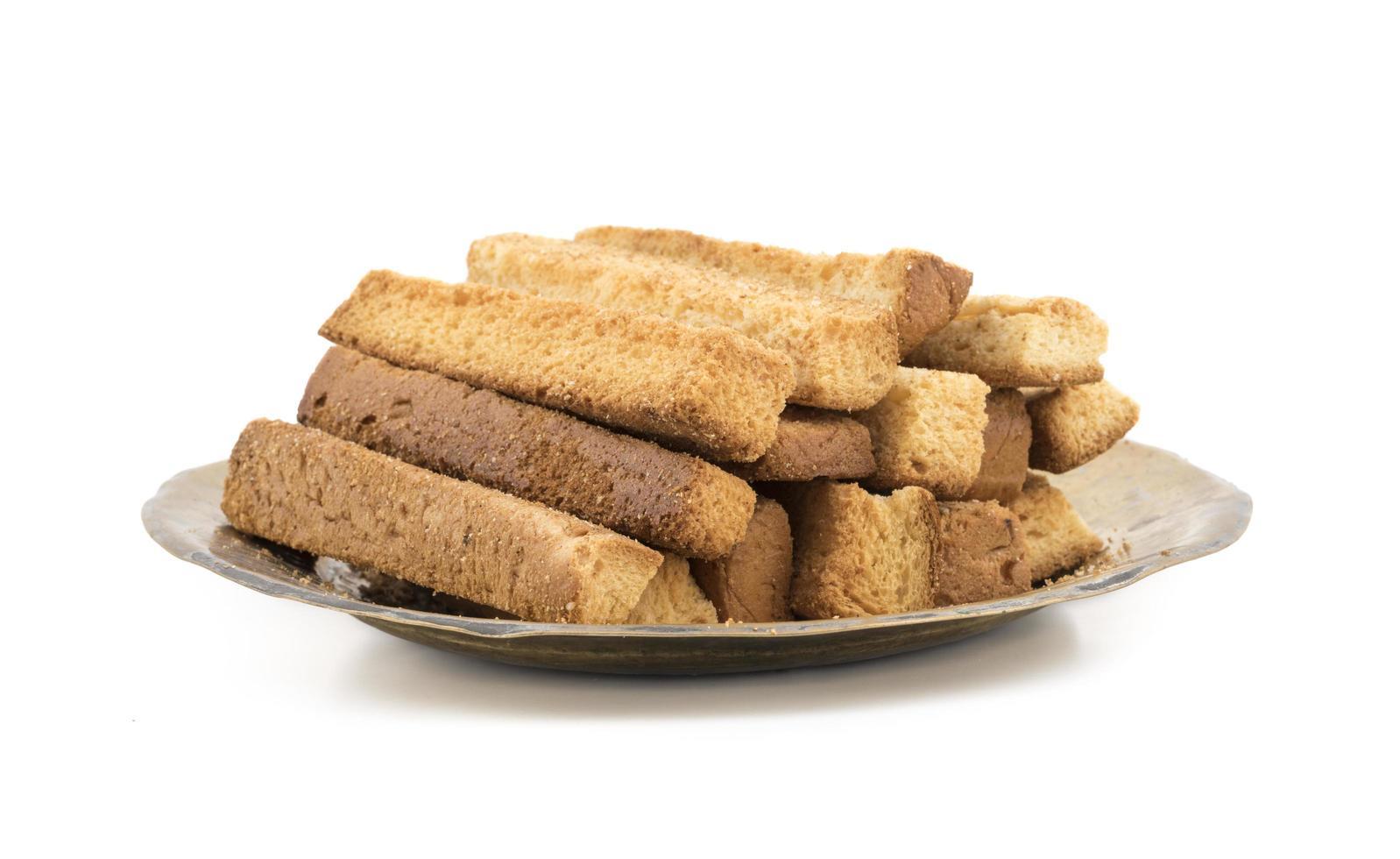 toast sticks op een bord foto