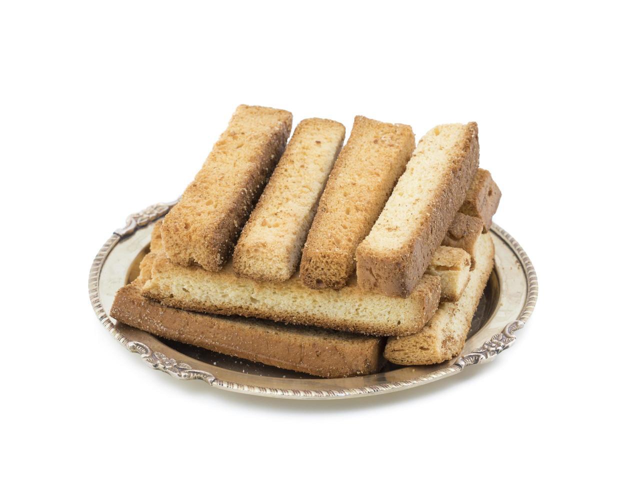 gestapelde Franse toast op een bord foto