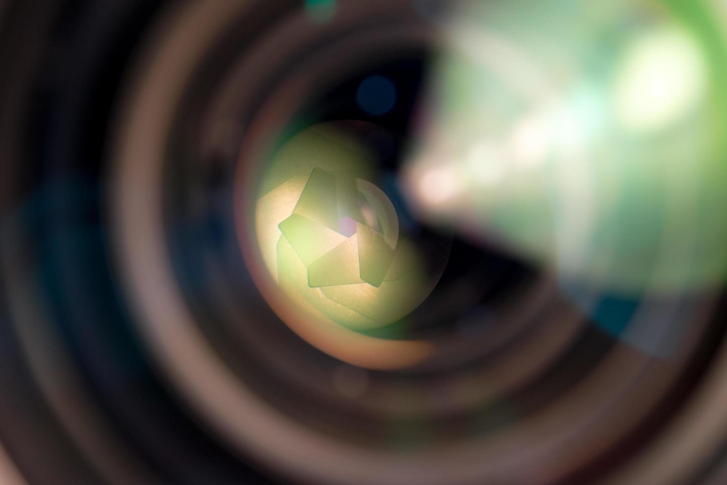 close-up van een cameralens foto