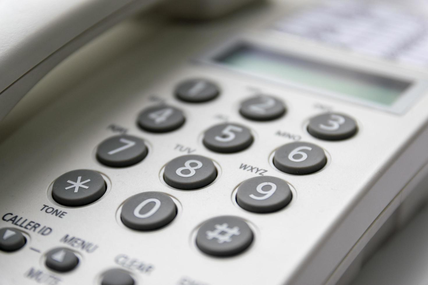 close-up van een telefoontoetsenbord foto