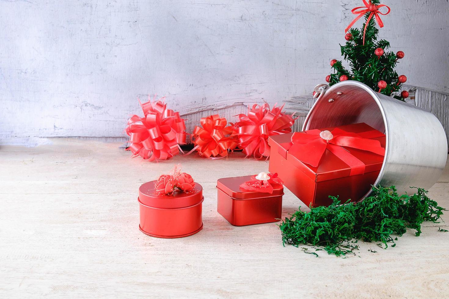 kerstcadeaus en strikken foto