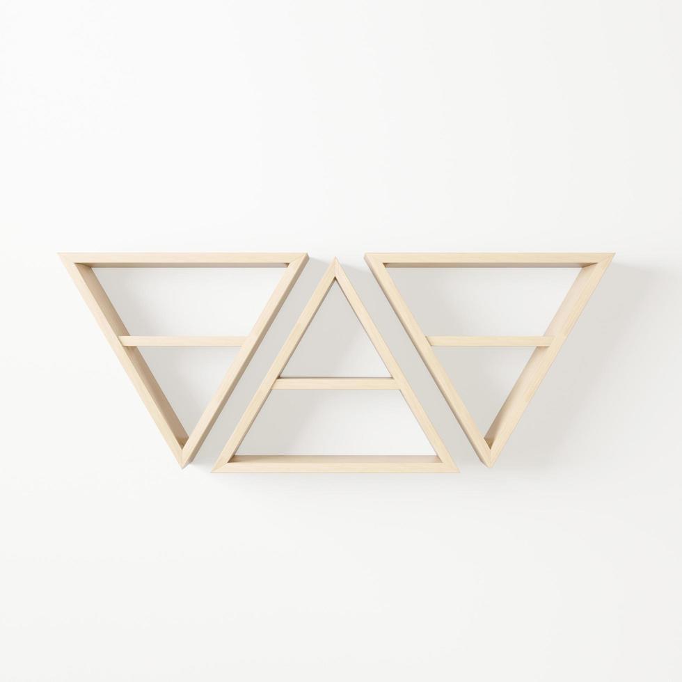houten driehoeksrekken foto