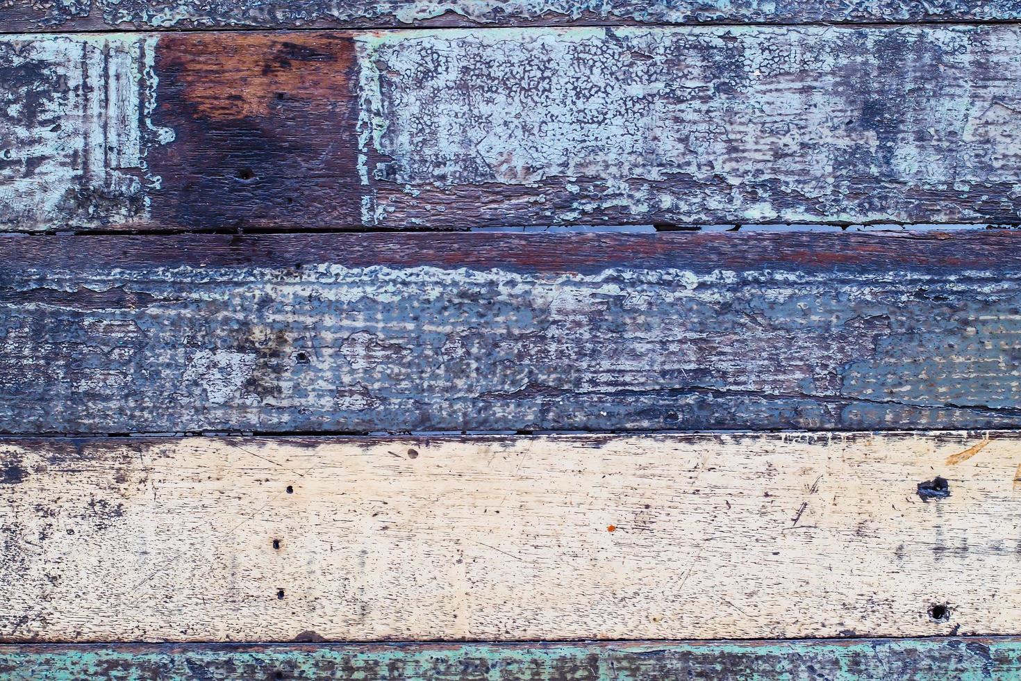 vintage houten achtergrond met afbladderende verf foto
