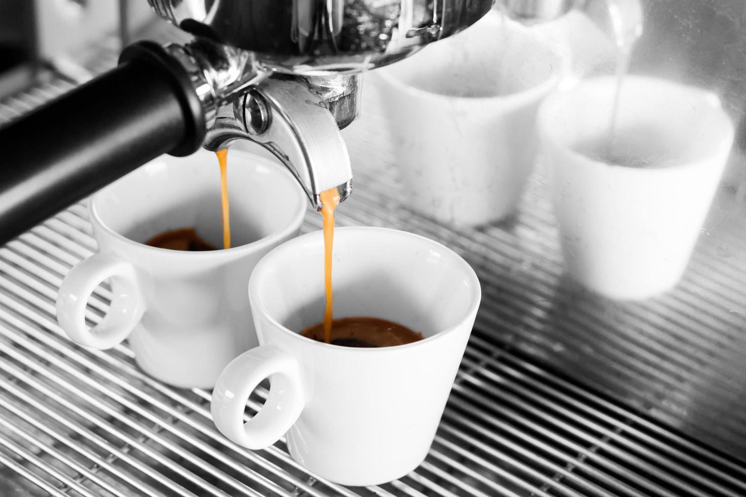 selectieve kleur van espresso foto