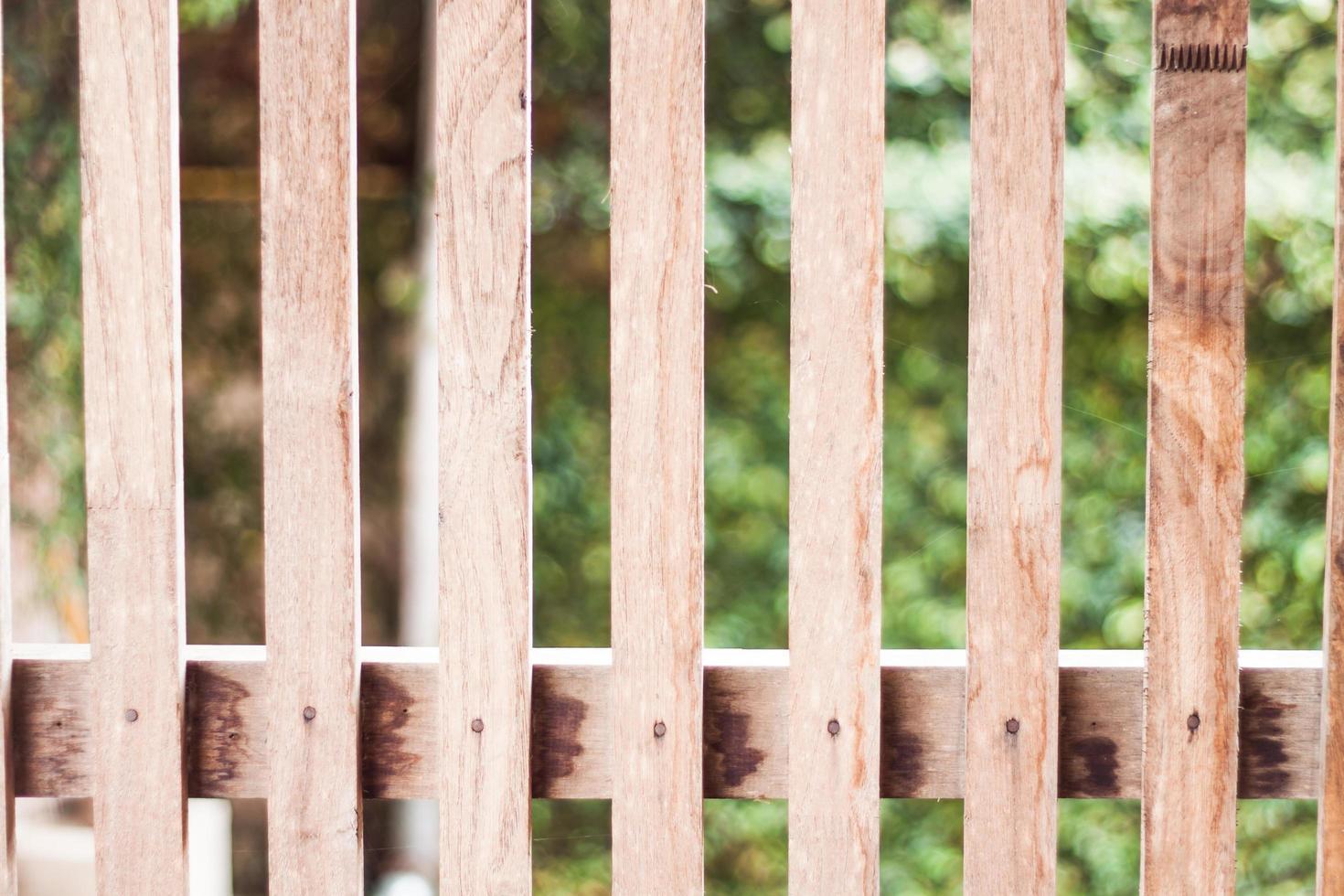 houten hek buiten foto