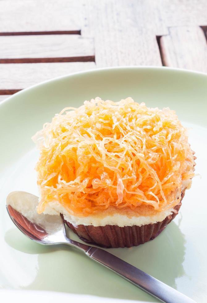 gouden eierdooier cupcake foto