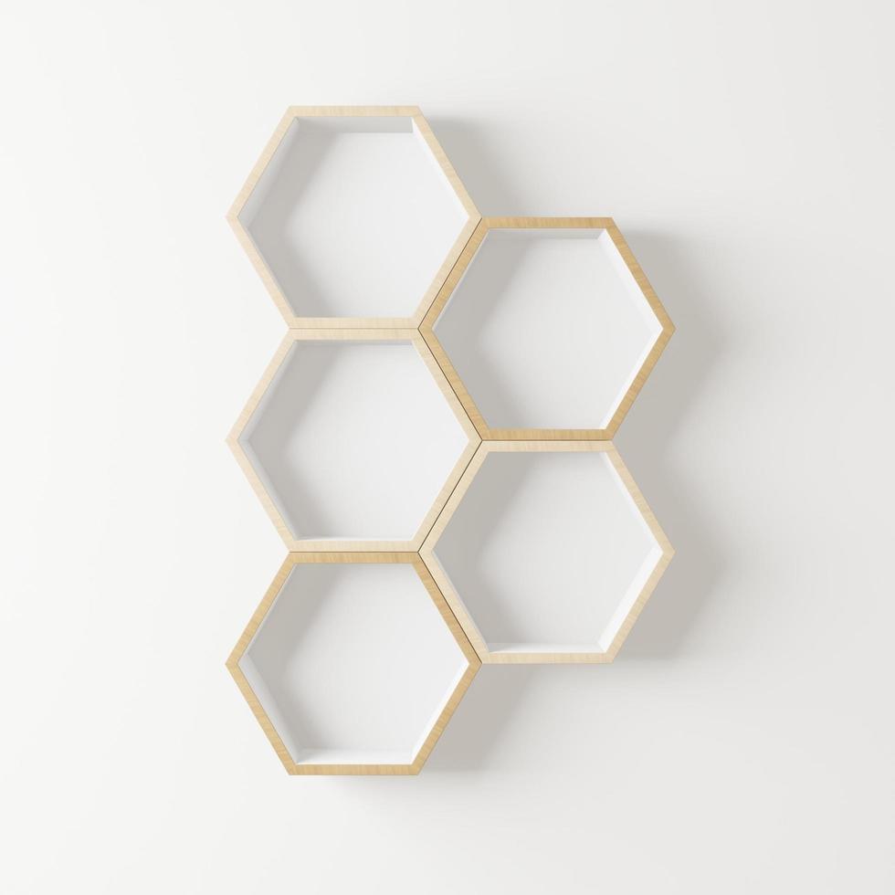zeshoekige houten plank foto
