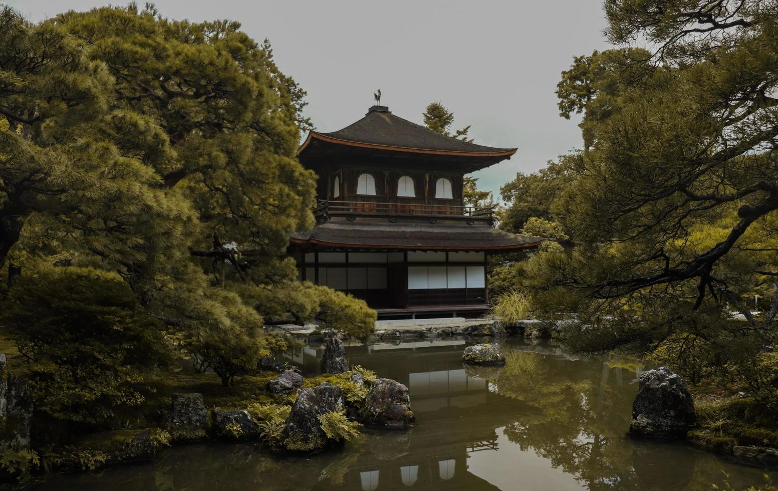 ginkaku-ji-tempel in kyoto, japan foto