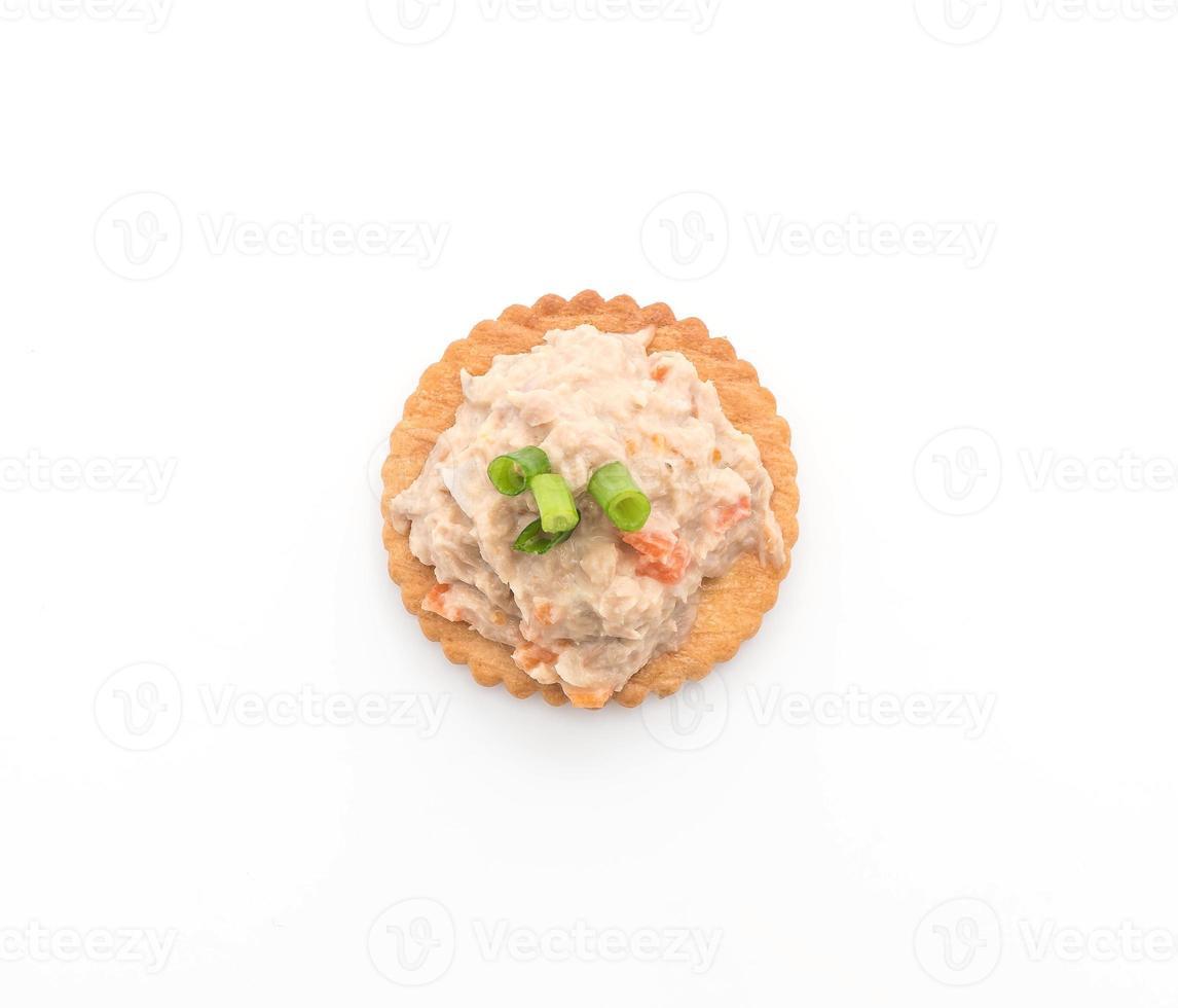 tonijnsalade met cracker foto