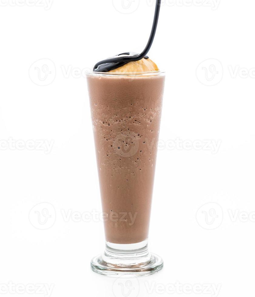 chocolade frappe met vanille-ijs foto