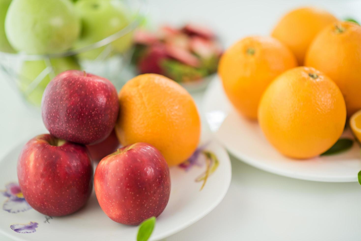 een verscheidenheid aan vers fruit foto